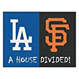 "MLB - Los Angeles Dodgers - MLB - San Francisco Giants House Divided Rugs 34""x45"""