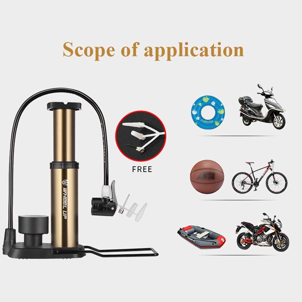 Dreamitpossible Bomba de Aire de aleaci/ón de Aluminio para neum/áticos de Bicicleta con man/ómetro de Gas