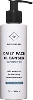 product image for Blind Barber Daily Face Cleanser - Cooling Gel to Foam Face Wash for Men with Juniper & Watermint for Gently Removing Dirt and Cleaning Pores - All Skin Types (5oz / 150ml)