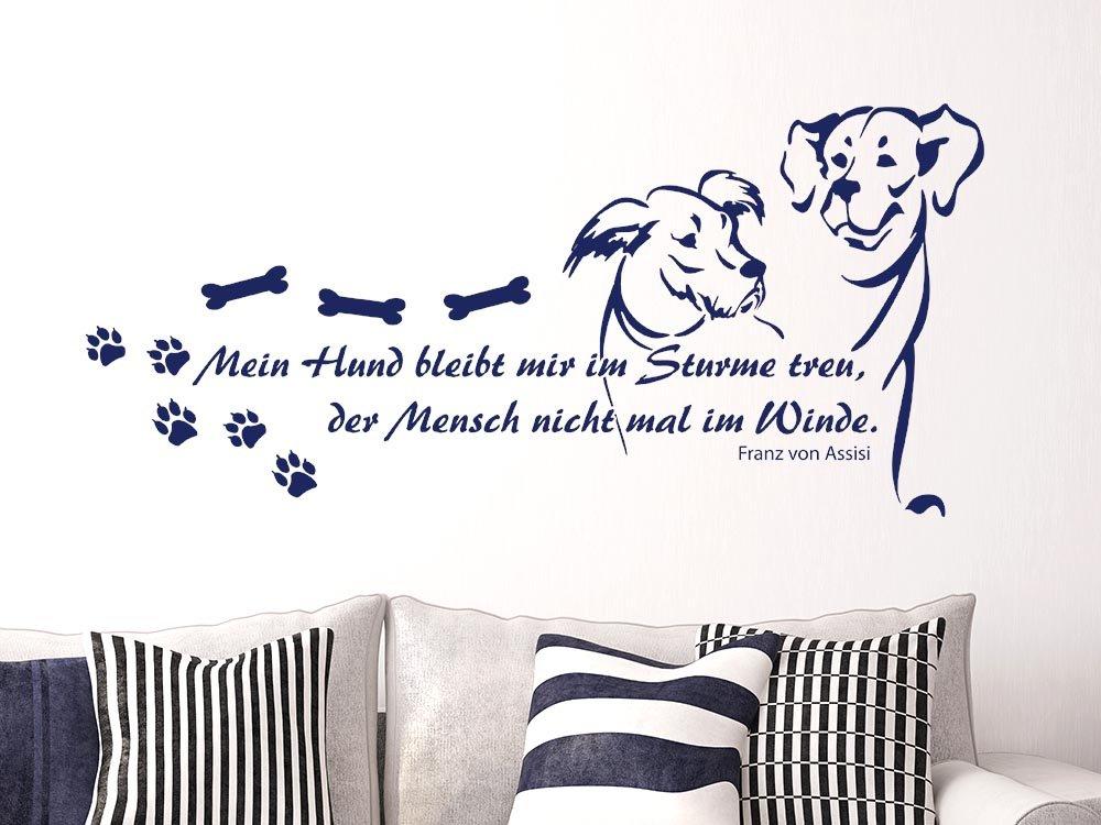 Grazdesign 640090 40 031 Wandtattoo Spruch Mein Hund Bleibt
