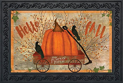Briarwood Lane Prized Pumpkin Autumn Doormat Primitive Hello Fall 18