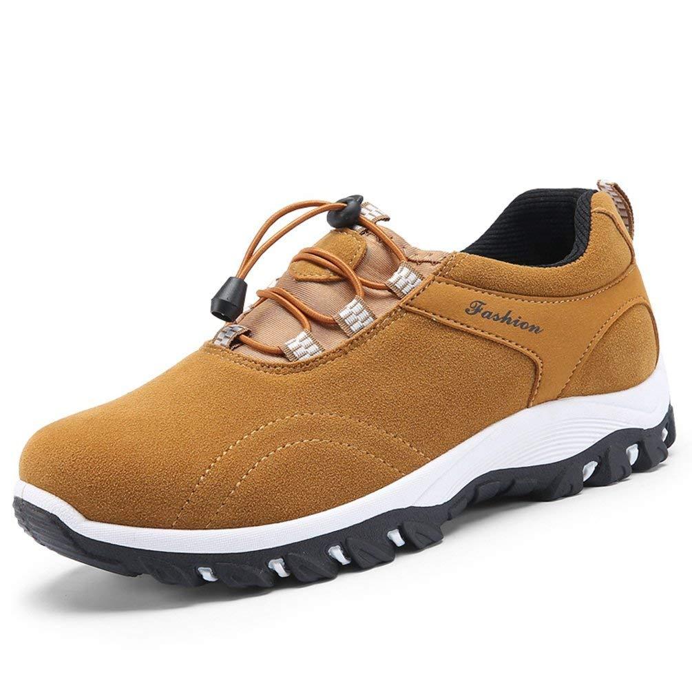 HhGold Männer Freizeitschuhe Frühling Sommer für Männer Mode Turnschuhe Outdoor Tourismus Männer Schuhe (Farbe   Gelb, Größe   8=42 EU)