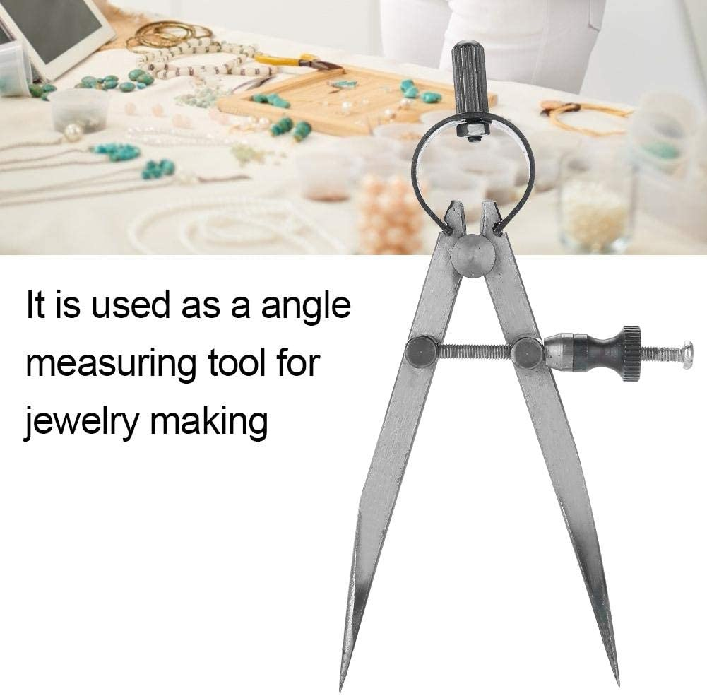 Wire Wrapping Jewelry Toolmaker Precision Angle Measuring Compass Divider Great for Beading Adjustable Craft Tool Semme Jewelry Making Supplies Kit