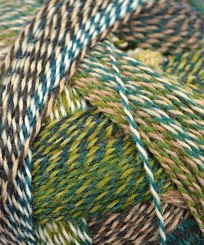 Schoppel Wolle - Zauberball Crazy Knitting Yarn - Teal/Olive/ Beige/Brown (# - Yarn Wool Teal