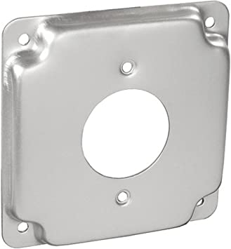 Zinc Plated Steel to Mount Switches Receptacles /& Devices Raised 1 Pc 4 Square Two Gang Adjustable Depth Device Ring 3//4 to 1-1//2 In