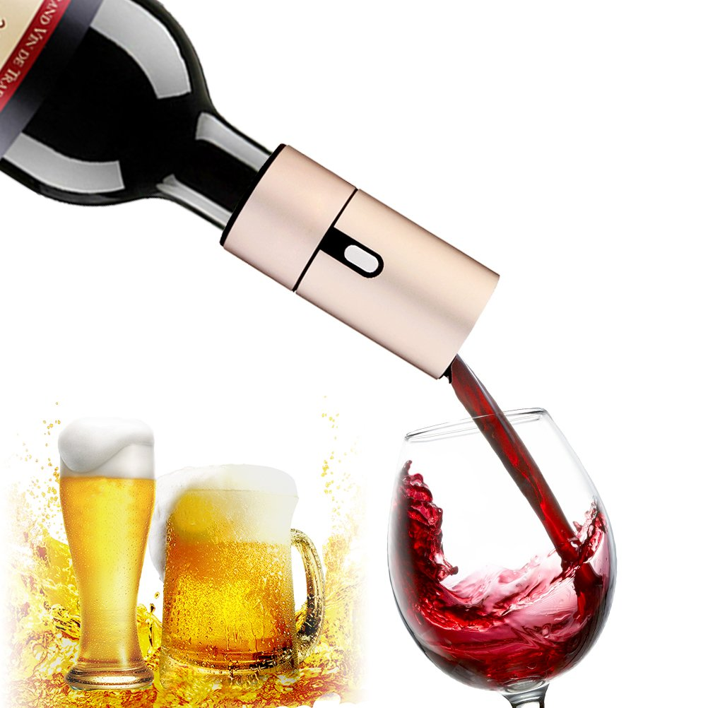 BABALI Electric Wine Aerator Pump Portable Beer Foam Maker Wine Spout Wine Bottle Air Aerator Red Wine Aerator Pourer Wine Accessories Aeration Decanter Wine Dispenser Enhance Wine Flavor of All Ages
