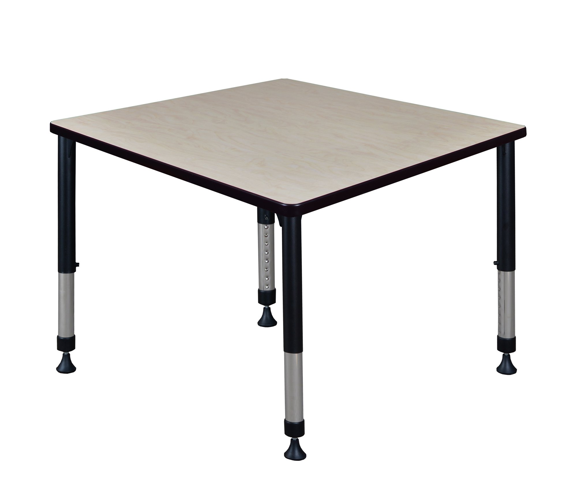 Kee 42'' Square Height Adjustable Classroom Table - Maple