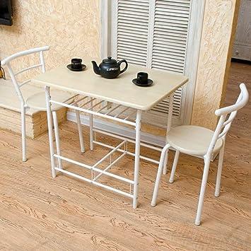AYHa Mesas y sillas plegables Doble Tabla 1 mesa y 2 sillas mesa ...