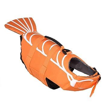 JohnJohnsen Chaleco Salvavidas Perro de Mascota Chaleco Vida del Perro de Ropa de Seguridad Traje de baño de Perro Chaleco para Nadar Flotador: Amazon.es: ...
