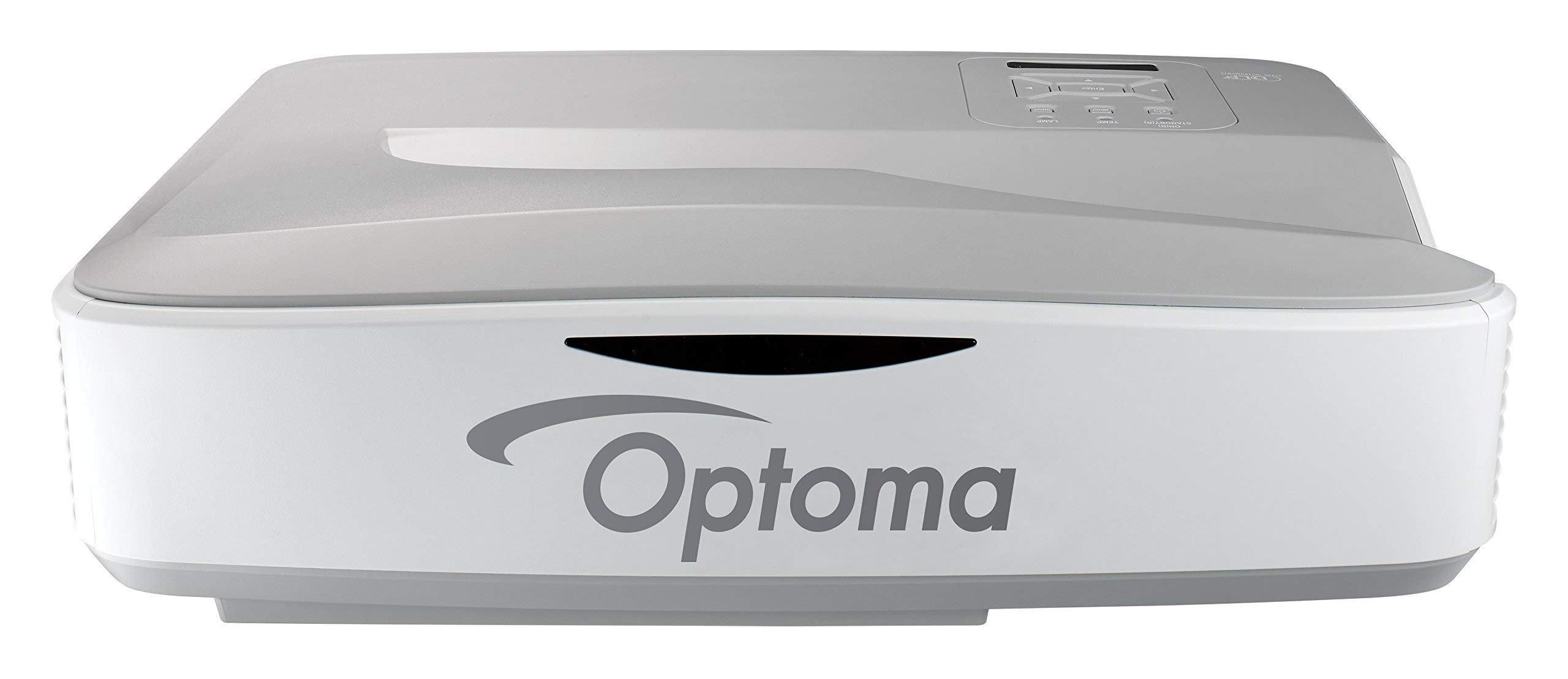 Optoma ZW300UST WXGA 3200 Lumens 3D DLP Ultra Short Throw Laser Projector (Renewed)