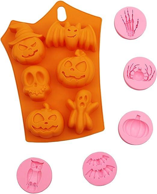 Halloween Silicone Mould Pumpkin Cake Chocolate Decor Baking Mold Suitable