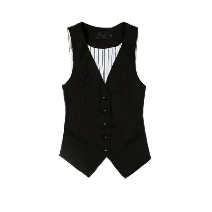 Amazon.com: caseminsto chalecos de mujer chaleco tops traje ...