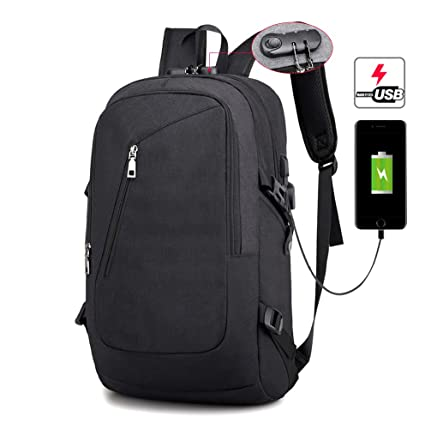 4d851b4271ec Amazon.com: COUTUDI Laptop Backpack with USB Charging Port and Coded ...