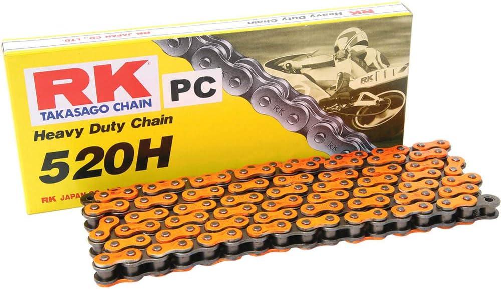 R/&K RK Kette 520H 5//8 x 1//4 114 Glieder Clipschloss passend zu KTM SX 125 orange
