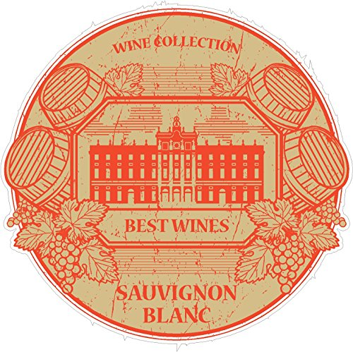 Sauvignon Collection (Oval wine collection sauvignon blanc 4x4 inches white vitis vinifera grape drink free happiness 'merica funny humor america united states color sticker state decal vinyl - Made and Shipped in USA)