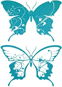 Brewster Home Fashions Teal Butterfly Giant Wall Decals