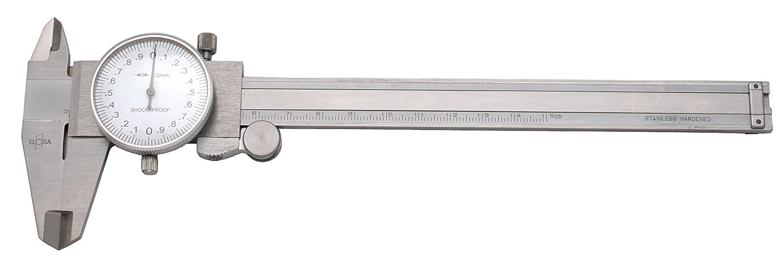 Elora 1515-100 Prä zisions-Uhrenmessschieber mit Feststellschraube, Messbereich 150 mm 1515001000000