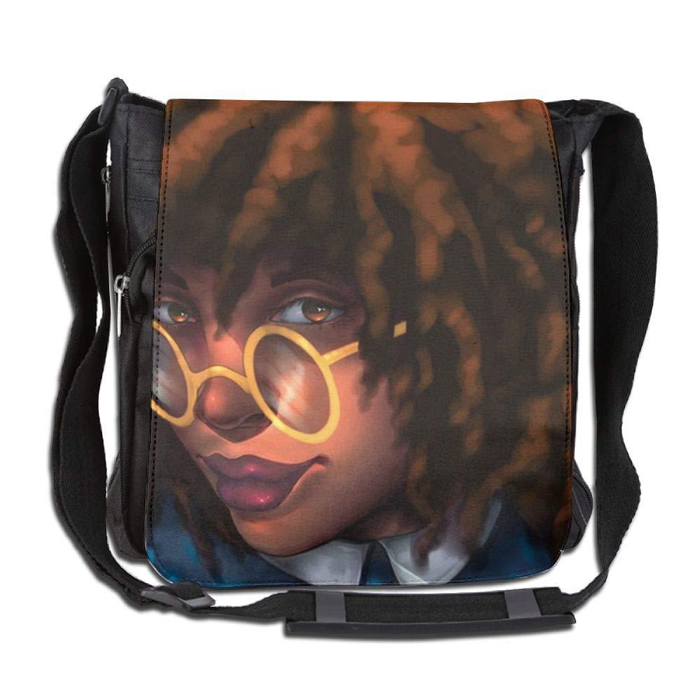 SARA NELL Messenger Bag,afro American Women Lady,Unisex Shoulder Backpack Cross-body Sling Bag