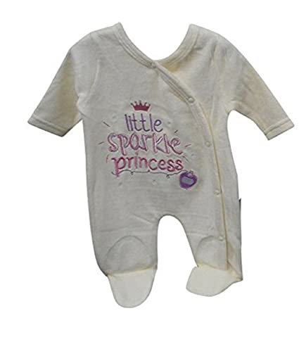 pinkbluewhite bebé niña Pelele de todo en uno con bordado rosa crema ...