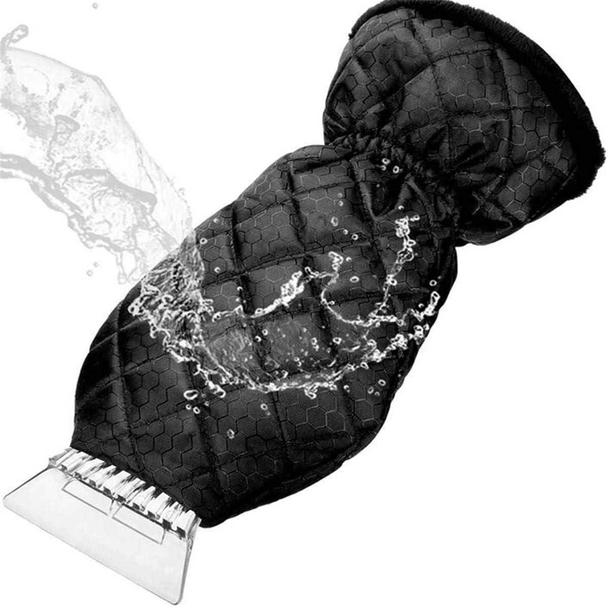 Starlife Gant grattoir /à Glace imperm/éable 2 pi/èces, Noir Durable pour Pare-Brise de Voiture Garde Vos Mains au Chaud Outil de Nettoyage pour enlever la Neige et Le Givre