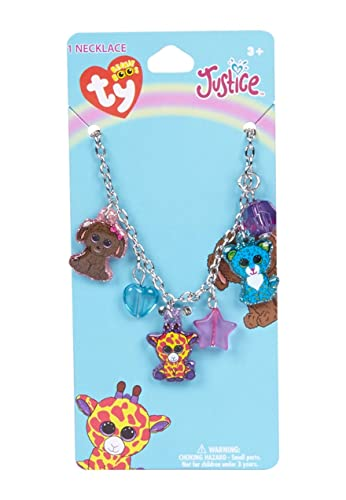 3ad4f5aacf6 Image Unavailable. Image not available for. Color  Justice Beanie Boo Charm  Necklace