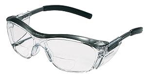 3M Reader Safety Glasses, 2.5 Diopter, Black Frame, Clear Lens