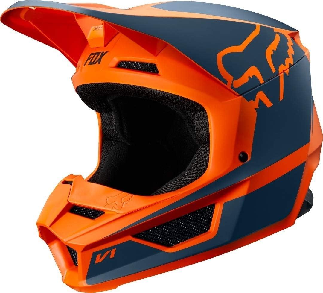 FOX V1 PRZM Motocross Helm Rot//Blau XS