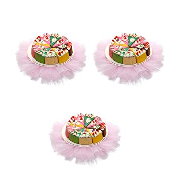 3bec6a6427 Pink Leisure Sports & Game Room Table Covers BESTONZON 3pcs Wine Bottle  Decoration Cover Tutu Skirt ...