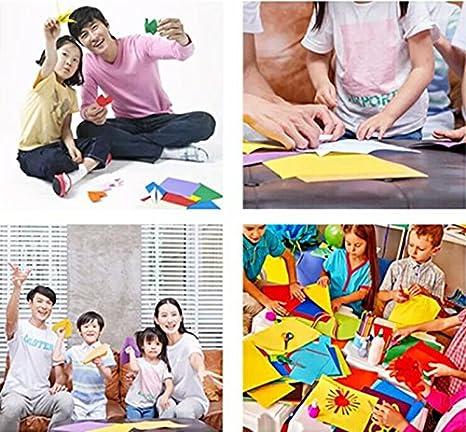 Origami,Papel Origami 100 Hojas de Doble Cara 10CM de Papel para Decoraci/ón de Fiesta de Inicio de Juguete de Los Ni/ños