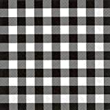 Boston International IHR 20-Count Luncheon 3-Ply Paper Napkins, 6.5 x 6.5-Inches, Buffalo Check Black