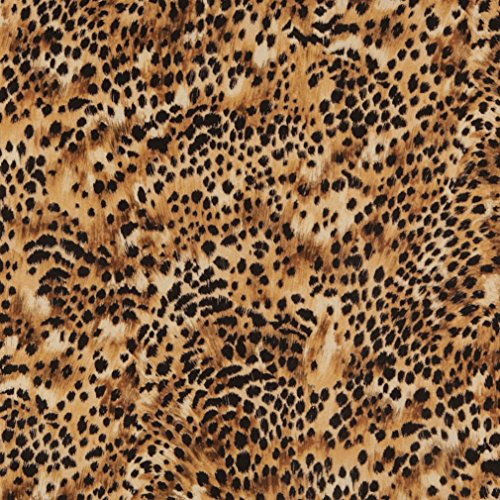 Velour Upholstery Kit (E421 Gold And Black Cheetah Animal Print Microfiber Contemporary Upholstery Fabric By The Yard)