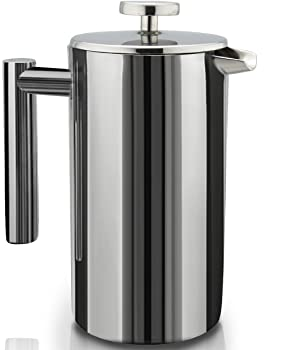 French Press Double-Wall Stainless Steel Mirror Finish (1L) Coffee/Tea Maker