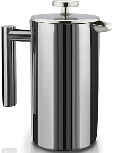 SterlingPro Double Wall Stainless Steel French Coffee Press, 1 Liter