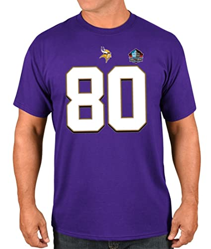 hot sale online ea60c 7c23f Majestic Cris Carter Minnesota Vikings NFL Men's HOF Eligible Receiver 4  T-Shirt