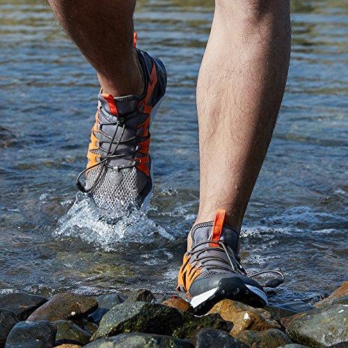 Rax Mens Scarpe Da Trekking Ad Acqua Ad Asciugatura Rapida Antiscivolo Resistenti Allacqua