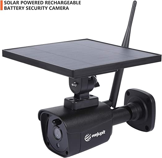 WeJupit Solar Powered Outdoor Security Camera