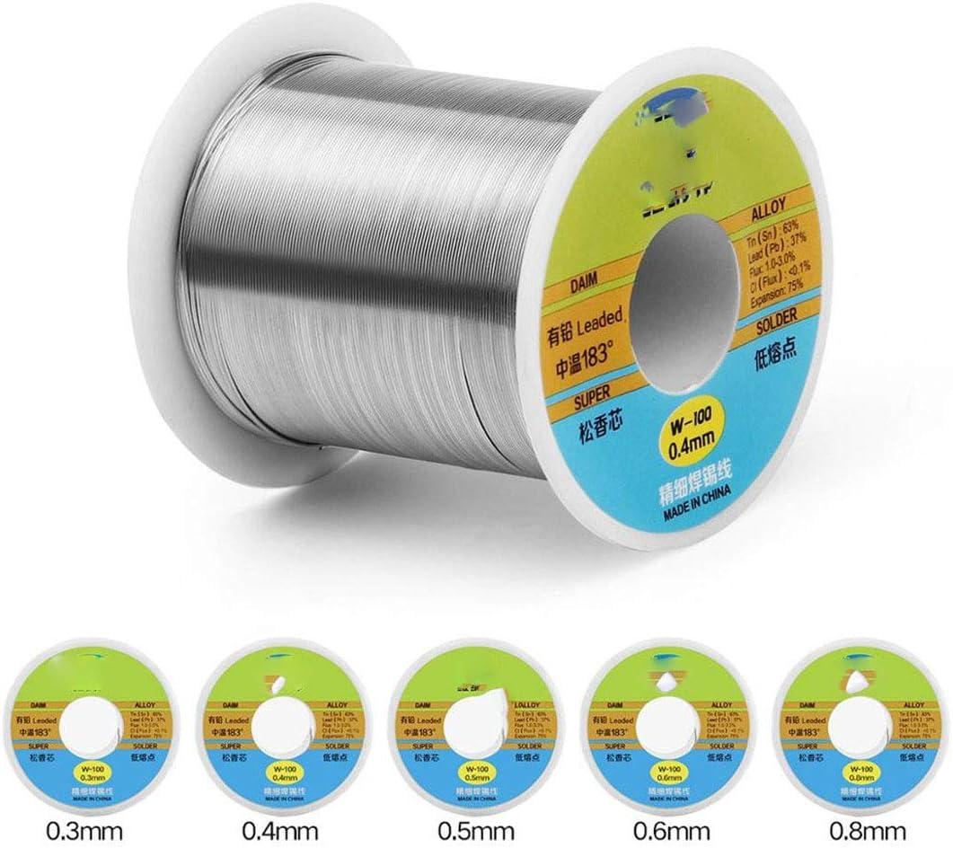 Tin Lead Rosin Core Solder Soldering Welding Iron Wire 0.8mm Reel FLUX 2.0/%