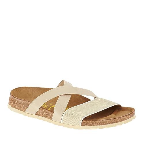 Papillio by Birkenstock Cosma Slide Sandals Beige Gold 4b9a4ab6545