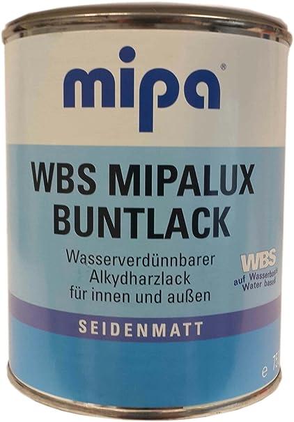 Mipa Wbs Mipalux Buntlack Alkydharzlack Seidenmatt 0 75 Ml Inne Außen Farbton Wählbar Farbe Ral Ral 9001 Cremeweiß Baumarkt