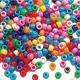 Baker Ross Pack ahorro de cuentas de colores para hacer pulseras, joyas, collages y manualidades infantiles (pack de 600)