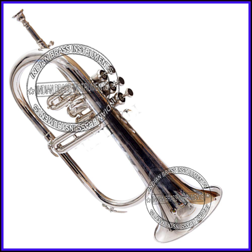 Moonflag BEST BRANDED FLUGEL HORN Bb PITCH BRASS 4 VALVE WITH FREE HARD CASE + MOUTHPIECE