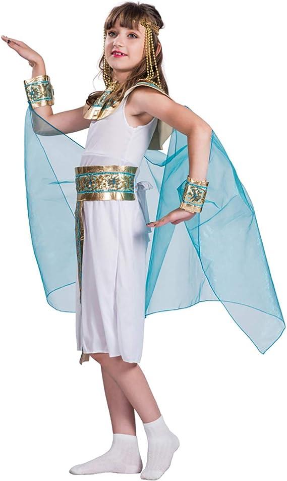 ENCOCO - Disfraz de Princesa egipcia de Reina de Egipto para niñas ...