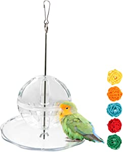S-Mechanic Parrot Bird Toy Foraging Hanging Creative Ball for Small Or Medium Parrots, Perches for Cockatiel,Conure,Amazon Parrots,Parakeet,Cockatiel