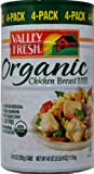 Valley Fresh Organic Canned Chicken Breast in Water, 10 oz can (Pack of 4)