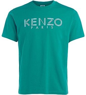 55917b3c Kenzo Men's Green T-Shirt with Printed Logo: Amazon.co.uk: Clothing
