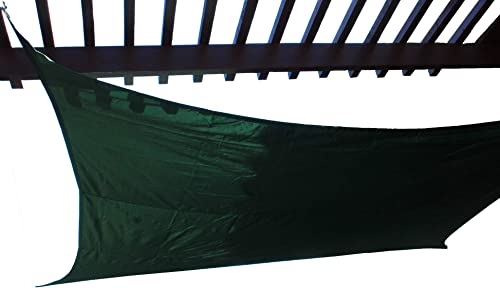Titan 12 FT X 12 FT Square Sun Shade Sail 3.6m X 3.6m Shading Canopy Green Color