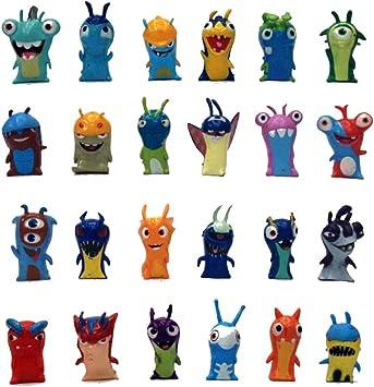 Eastvaps 24pcs Set 5cm Anime Cartoon Slugterra Mini Pvc Figurines Jouet Amazon Fr Jeux Et Jouets