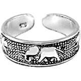 925 Sterling Silver adjustable Toe Ring Elephant Design by TC-Accessories
