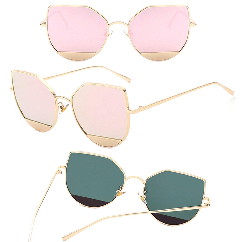 Amazon.com: Cat Eye Blue Sea Tears Sunglasses Women/Men ...