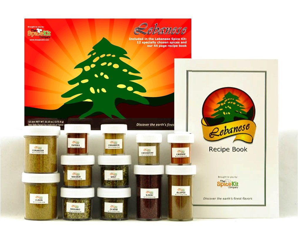 Amazon lebanese spice kit 12 fresh lebanese mediterranean amazon lebanese spice kit 12 fresh lebanese mediterranean middle eastern spices 44 page recipe book to easily cook delicious forumfinder Images